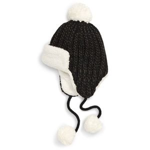 BP. Knit PomPom Trapper Hat